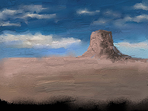 Desert in the dream – Ipad Paint