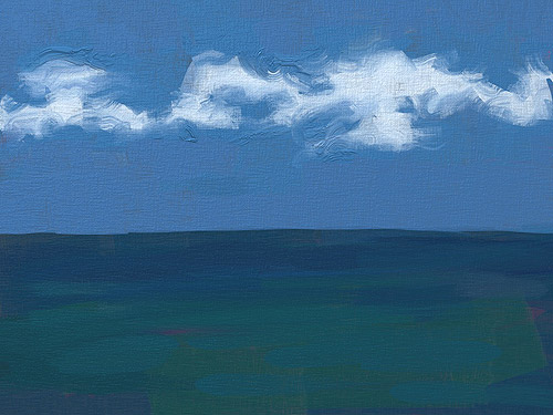 Sea with cloud – Ipad Paint