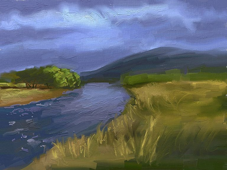 The river of my hometown – Ipad Paint