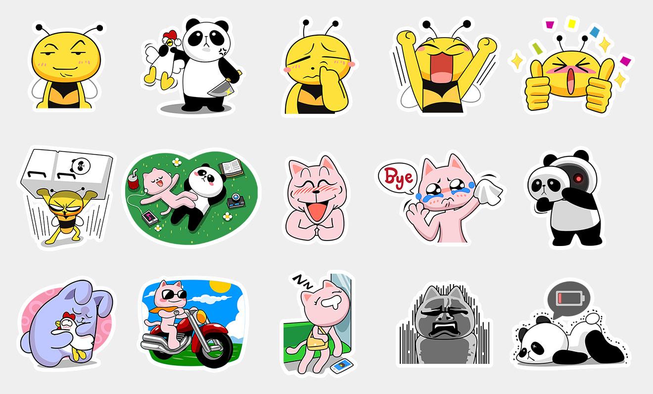 BeeTalk Friends 1 –  Sticker