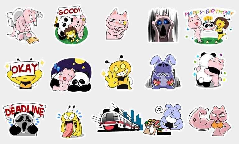 BeeTalk Friends 02 – Sticker