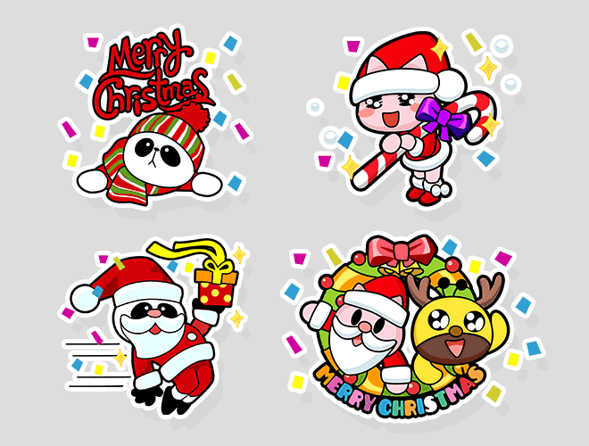 Sticker Merry Christmas!