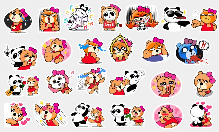 Some New Stickers – Ajone & Panda, BeeTalk Friends