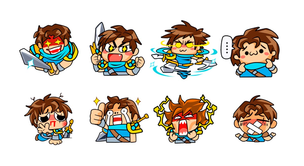 Garen New Stickers