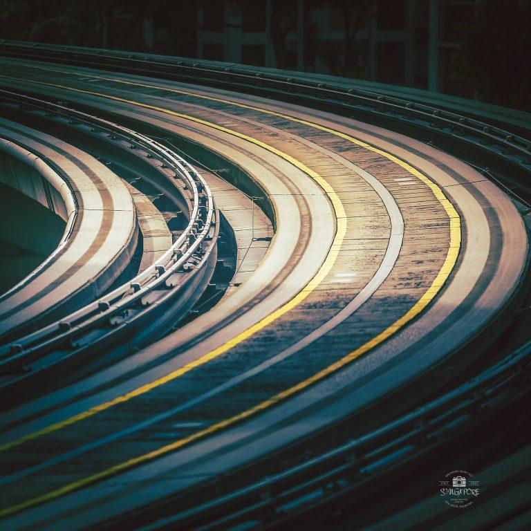 LRT's rails in the morning