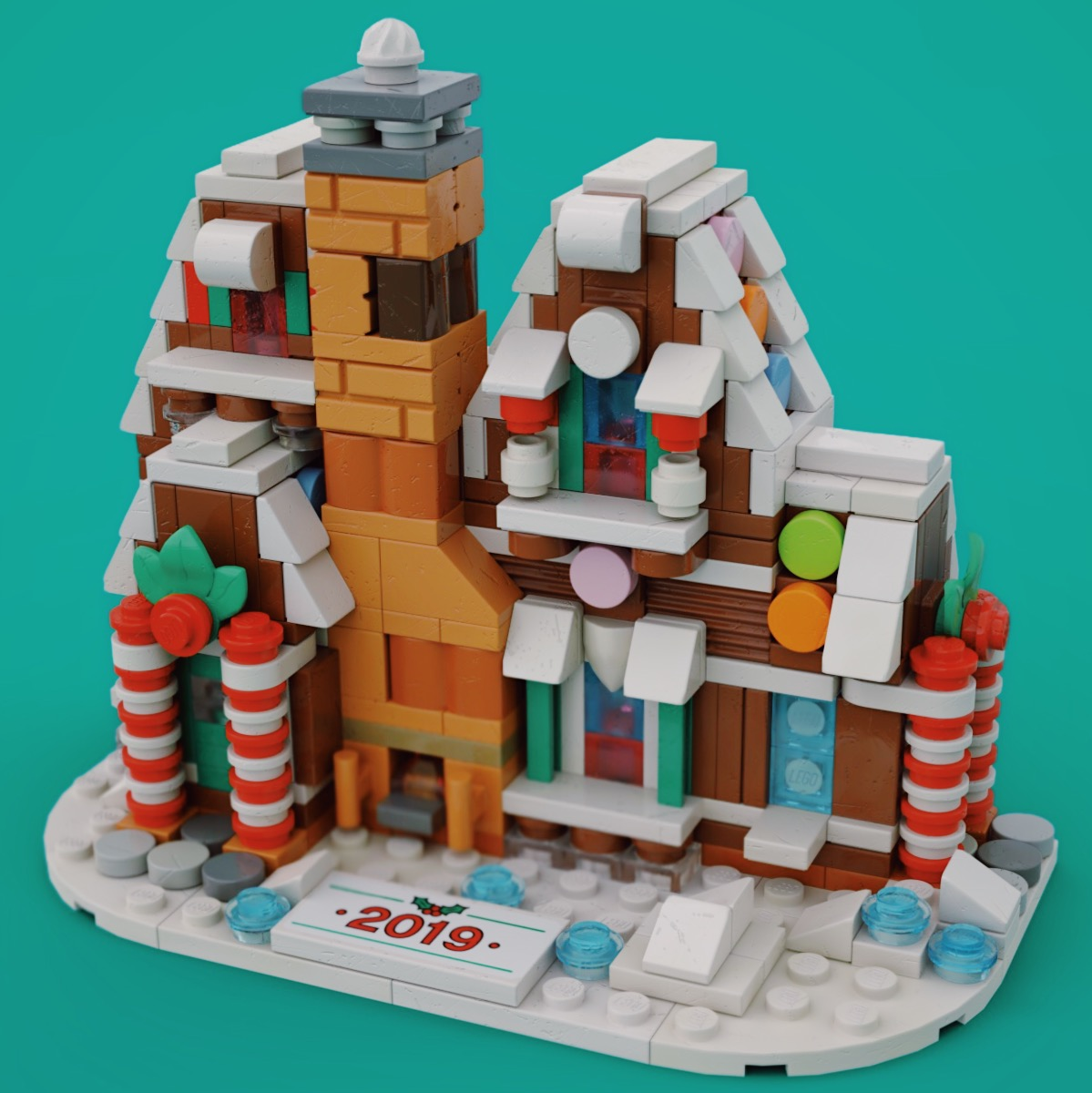 Mini Gingerbread House 3d render